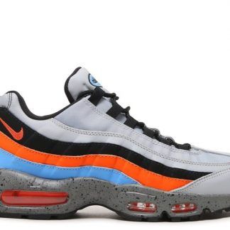 wholesale dealer 8eb6f 775bf Nike Air Max 95 Premium 538416-015 Loup Gris Sécurité Orange Université Bleu