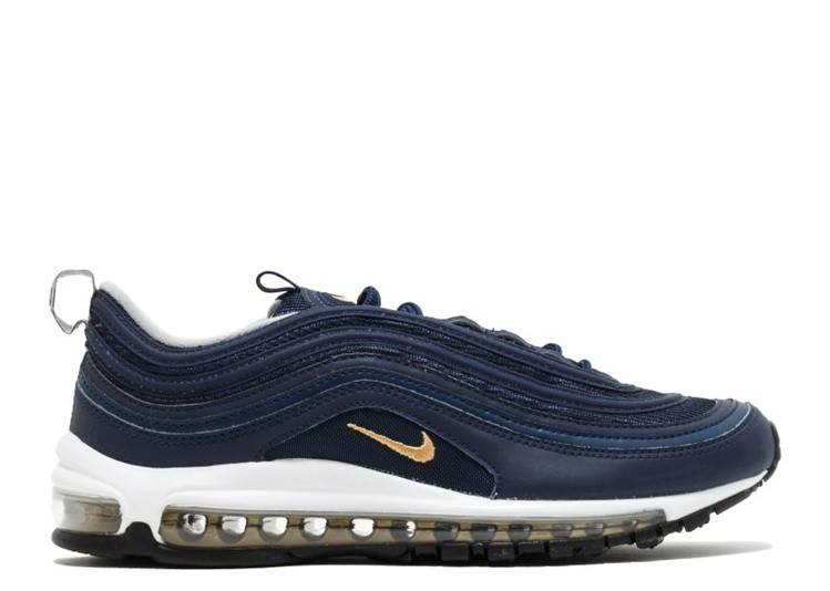 en soldes e2bfd 016bf Soldes Nike Air Max 97 921826-400 Midnight Navy Or métallique
