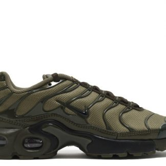 the best attitude 37292 16df1 Soldes Nike Air Max Plus GS Olive Cargo 655020-200 Moyen Olive-Noir-Dark  Loden