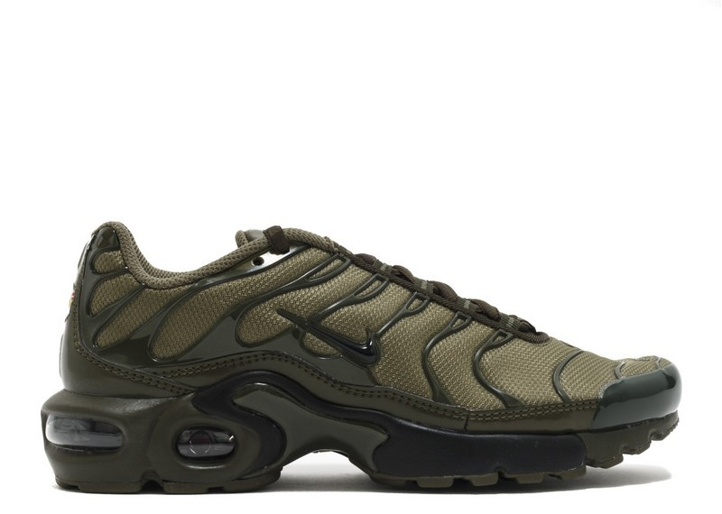 reputable site cozy fresh great deals 2017 Soldes Nike Air Max Plus GS Olive Cargo 655020-200 Moyen Olive-Noir-Dark  Loden