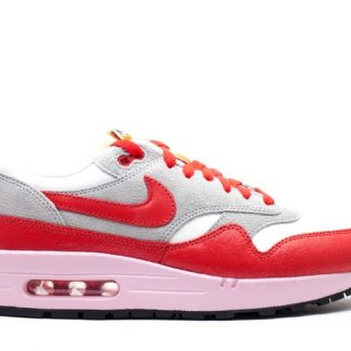Chaussures Nike Air Max 1 Ultra Flyknit pour Homme 843384 601 Light Red White University Red
